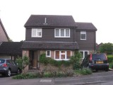 Completed front elevation - two storey side and rear extension -