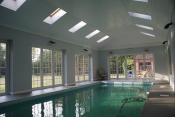 Internal picture of new swimming pool created  - plans by Easyplan